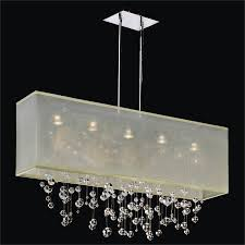 bubble chandelier rectangular shade finishing touches