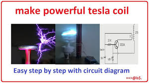 how to make powerful tesla coil at home easy step by step with 9v tesla coil circuit diagram how to make powerful tesla coil at home easy step by step with circuit diagram