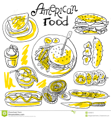 american food clipart. Simple Clipart Download American Food Stock Vector Illustration Of Dinner  50598315 Intended Food Clipart A