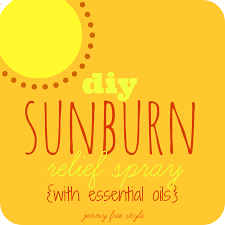 diy sunburn relief spray using essential oils