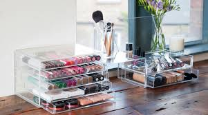 muji acrylic storage has reached iconic status among beauty for providing the best way to organise collections neatly while keeping them on display