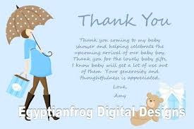 Baby Card Notes Blue Baby Bump Pregnancy Shower Thank You Notes Print