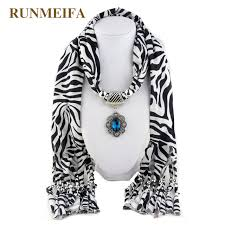 runmeifa hot ing fashion lady flower pendant scarf necklace charm woman girls ornament accessories