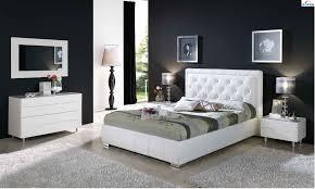 Modern Bedroom Furniture Nj Cinderella 661 Bedroom Set In White Leather By Dupen Made In Spain