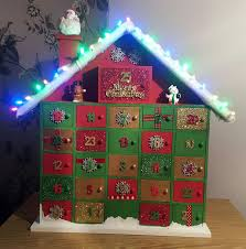 wooden advent calender with led lights s from hobbycraft