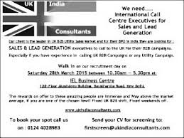 Call Centre Cv International Call Centre Executive Lead Generation Job In