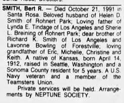 Berl R, Smith brother of Cecile Aiuto's mother, Lavonne - Newspapers.com