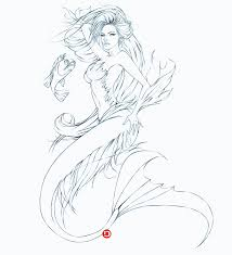 Realistic Mermaid Coloring Pages For Adults 2258 Realistic Mermaid