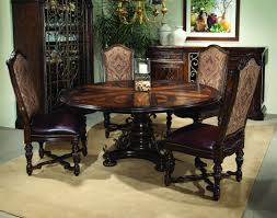 valencia round dining table with six leaves