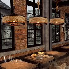 pendant lighting bar. Modern Hemp Rope Livingroom Pendant Light Bar Restaurant Cafe Decoration Lamp Free Shipping Lighting