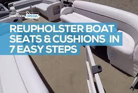 to reupholster boat seats cushions