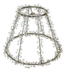 Beaded Lamp Shade Frame Chairish
