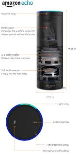 speakers in amazon. amazon echo | volume ring reflex port (enhances the woofer\u0027s output for deeper sounds speakers in