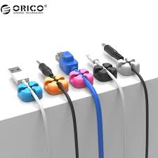 orico 10pcs colorful cable winder wire storage silicon cable manager holder desk tidy organiser for digital