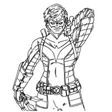 Young Justice Nightwing Coloring Pages 2817303 Chronicles Network
