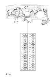 vauxhall astra g zafira a instrument panel wiring harness contd instrument panel wiring harness contd