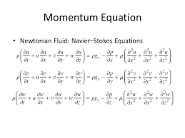 9 momentum equation newtonian fluid navier stokes equations