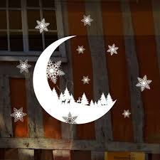 snow moon wall sticker decal