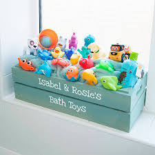 personalised kids bathroom crate by plantabox | notonthehighstreet.com