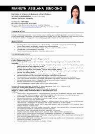 Unique Sample Resume For Fresh Graduate Business Administration