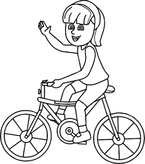 Small Picture Riding Girl On Bicycle Coloring Page Wecoloringpage
