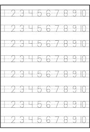 Number Trace Worksheets   Kiddo Shelter