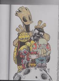 images of marvel coloring book some colored pages from skottie young and s