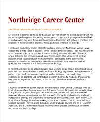 Personal Statement Grad School Samples Personal Statement Grad School Samples