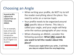 unit lecture ff  12 choosing an angle a good profile