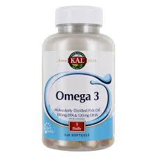 Buy Kal Omega 3 Molecularly Distilled Fish Oil 120 Softgels At