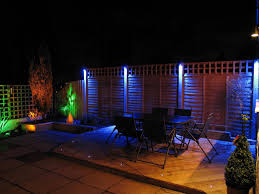 Blue Outdoor Lights Beautiful Garden Furniture And Led Lighting Led Garden