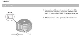 replacing front speakers components wiring acura mdx replacing front speakers components wiring tweeter jpeg