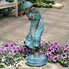 fairy garden statues yard statues for inspiring design windblown quality lost wax bronze statue image