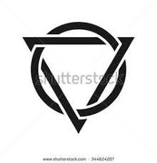 triangle and circle logo vector