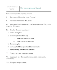 Course Proposal Template Training Course Proposal Template