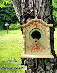 Diy Birdhouse Hows This For A Fun Upcycle Take A Broken Discarded Thrift