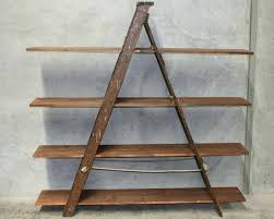 8 foot wooden ladder rustic ladder shelf brilliant shelves handmade in using reclaimed wood pertaining to 8 foot wooden ladder