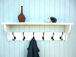 Wall Mounted Coat Rack With Shelf Extraordinary White Wall Mounted Coat Rack Jacket Rack Jacket Hooks Coat Racks
