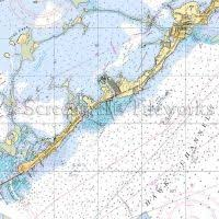 Florida Islamorada Nautical Chart Decor Nautical Chart