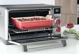 a casserole backing inside of wolf convection oven countertop gourmet cbg100sc