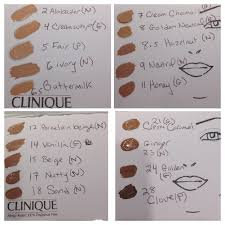 Clinique Beyond Perfecting Foundation Color Chart