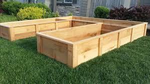 cedar raised garden bed step by step