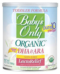 Babys Only Lactorelief With Dha Ara Toddler Formula Non Gmo Usda Organic Clean Label Project Verified 12 7 Oz