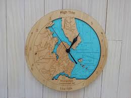 wooden tide clock whangamata harbour detail