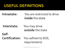 1 School Bus Drivers Inservice Intrastate You Are Restricted To