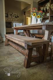 Dining table bench plans large and beautiful photos Photo to