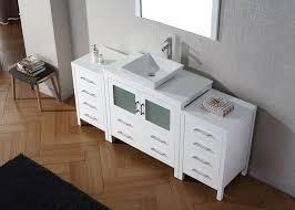 virtu usa 72 dior single sink bathroom vanity set in white with pure white marble