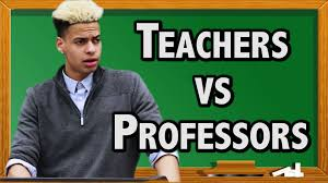 high school teachers vs college professors