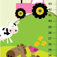 Farm Growth Chart Amazon Com Farm Animals Canvas Growth Chart Girly Farm