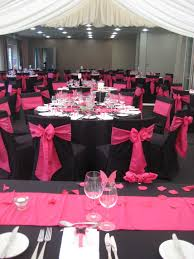 Breathtaking Pink And Black Wedding Decorations For The Reception 56 In  Wedding Tables And Chairs With